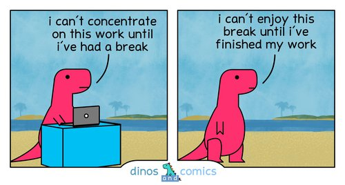 Dino work-break meme